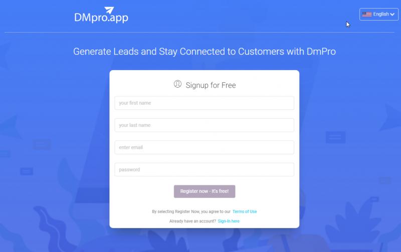 DMpro signup