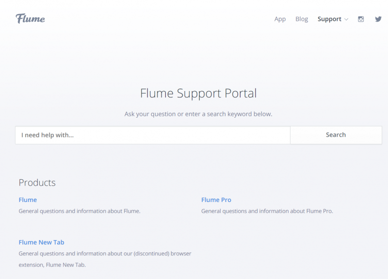 Flume Support