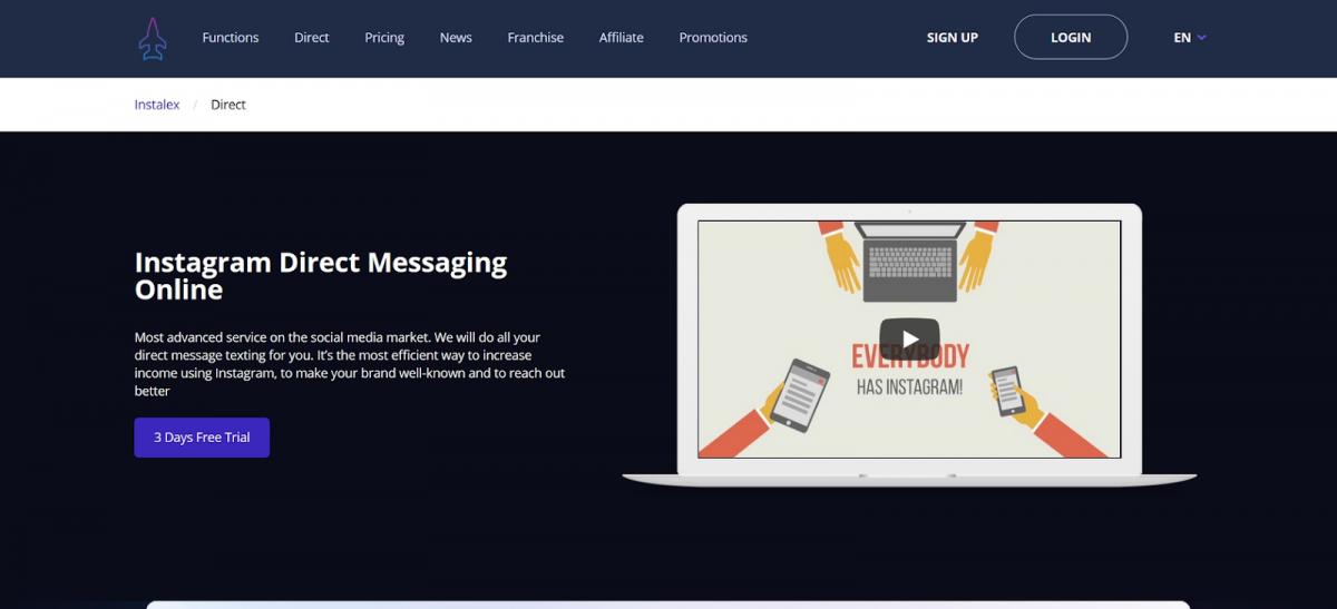 Instalex Instagram Direct Messaging Online