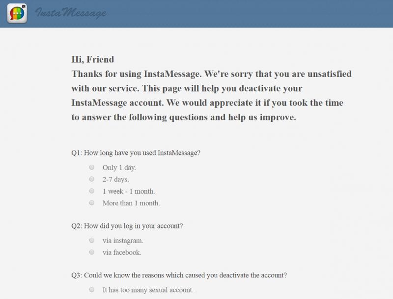 Instamessage Support