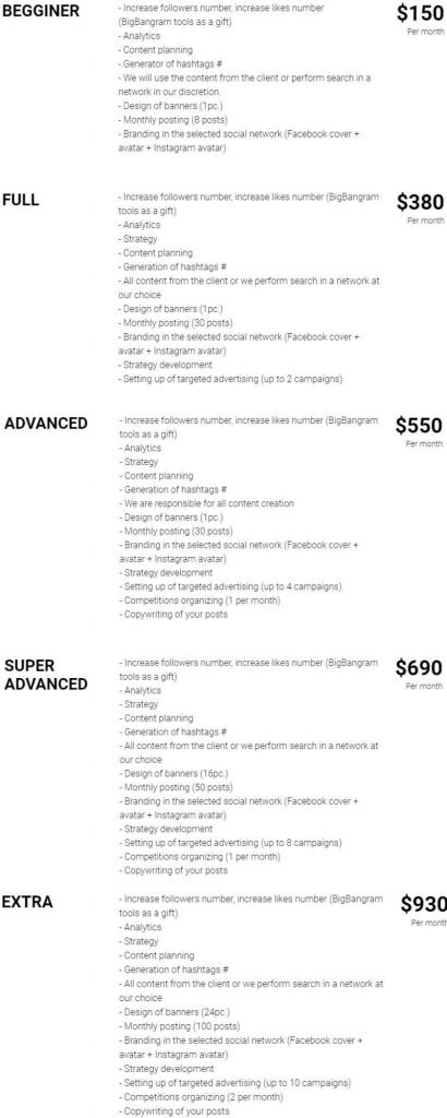 Social media managment Bigbangram
