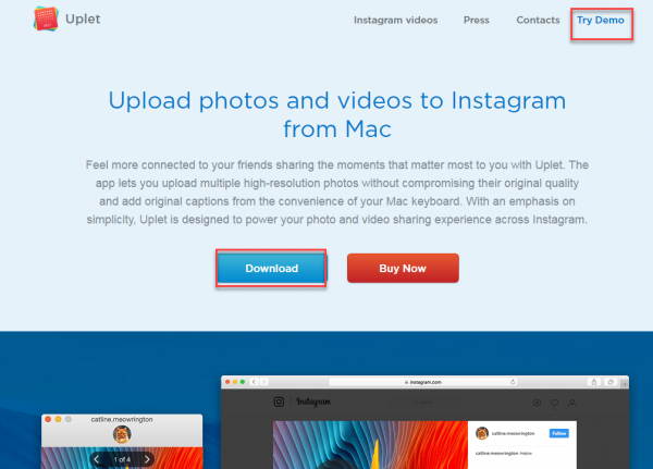 Uplet webpage