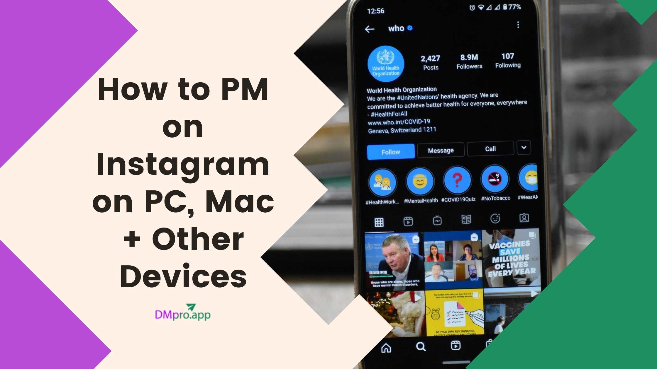 how to pm on instagram